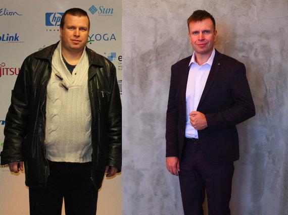 Partnerio nuotr./Vadimas prieš ir po dietos