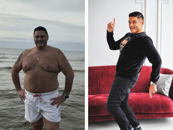 Partnerio nuotr./Vitalijus Cololo prieš ir po dietos