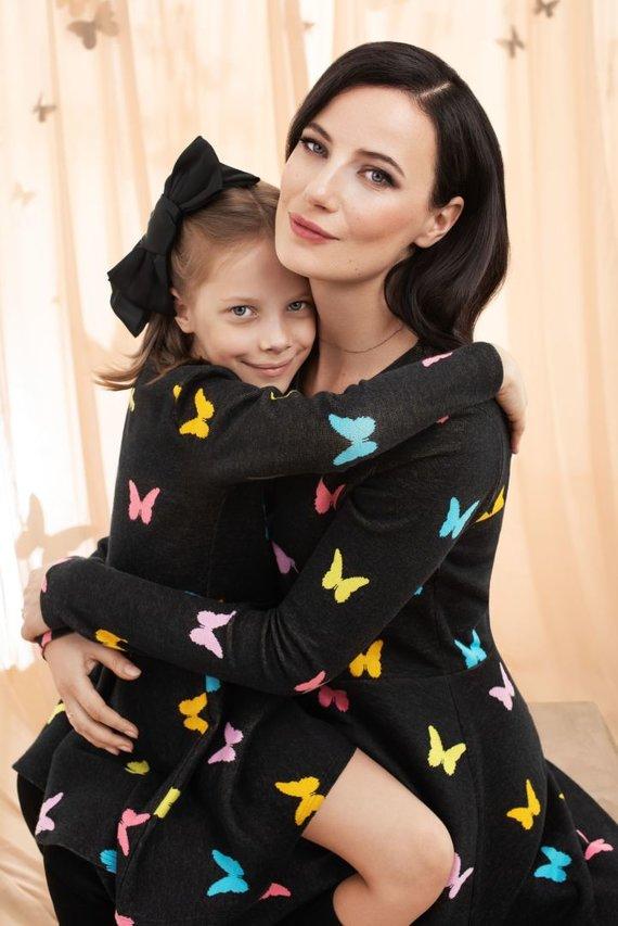 Partnerio nuotr./Agnė Kuzmickaitė su dukra