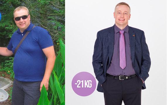 Partnerio nuotr./Airidas prieš ir po dietos