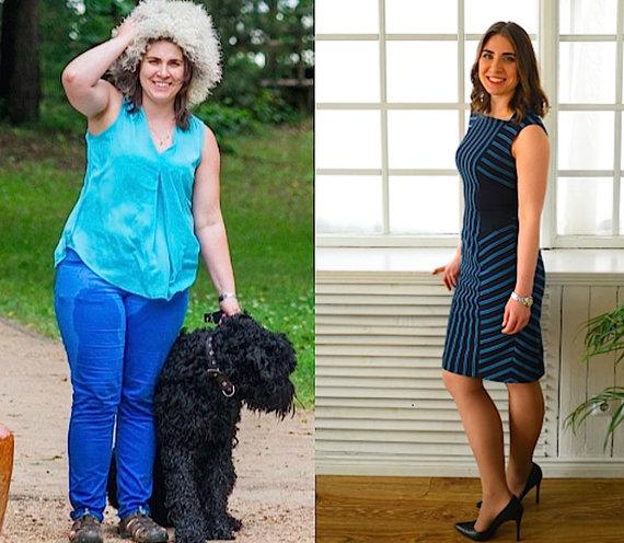 Partnerio nuotr./Jekaterina prieš ir po dietos