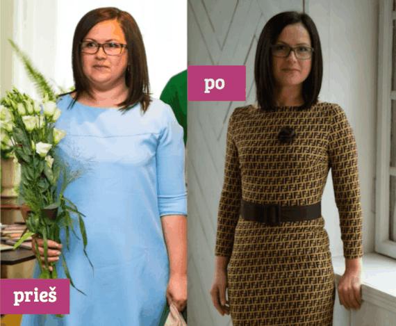 Partnerio nuotr./Diana prieš ir po dietos
