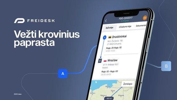 """Partnerio nuotr./Pervežimų valdymo platforma """"Freidesk.com"""""""