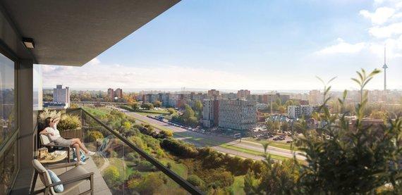 Partnerio nuotr./Namai: su vaizdu į Vilniaus panoramą, želdiniais ir sostinės privalumais