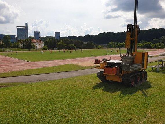 S.Gadeikio nuotr./Net ir stadiono rekonstrukcija neapsieina be inžinerinių geologinių tyrimų