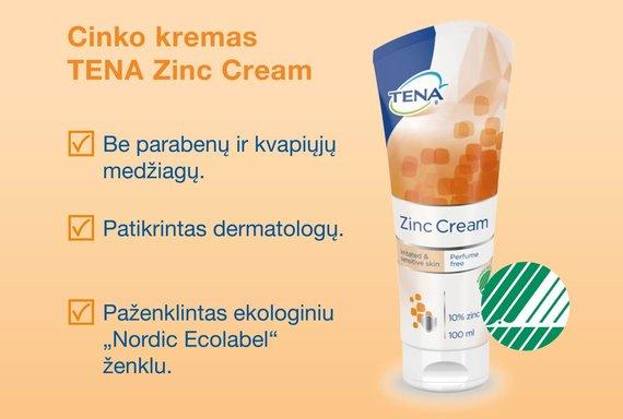 """Projekto partnerio nuotr./Cinko kremas """"TENA Zinc Cream"""""""