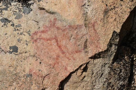 Justino Galinio nuotr./Senovės žmonių piešiniai ant uolų