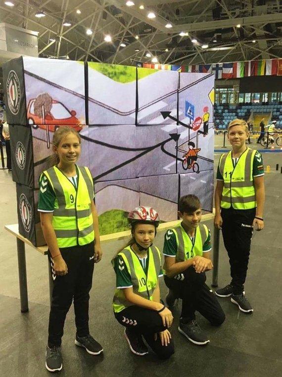 Lietuvos automobilininkų sąjunga/Jaunieji Lietuvos dviratininkai Europos saugaus eismo konkurse užėmė 10-ąją vietą