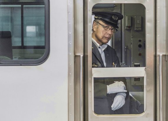 """Kelionių organizatoriaus """"GRŪDA"""" nuotr. /Traukinių kompanijos darbuotojas"""