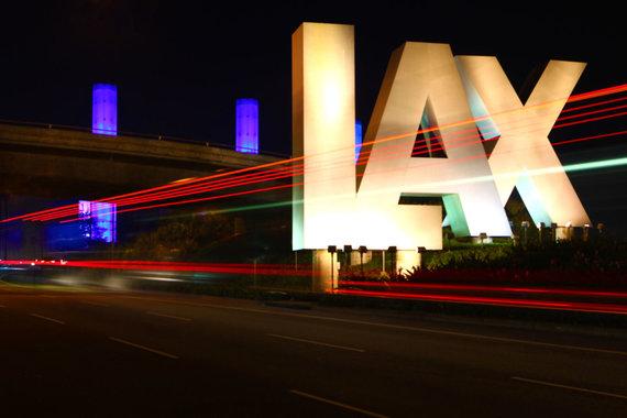 """123RF.com nuotr./Los Andželo oro uosto """"LAX Gateway Pylons"""" instaliacija"""