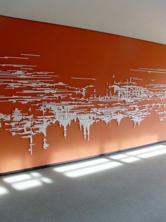 """Ludwig Kuckartz nuotr./P.Gilytės Ostralės bienalei sukurtas reljefas """"Dresden_Sunrite_Sundown"""""""