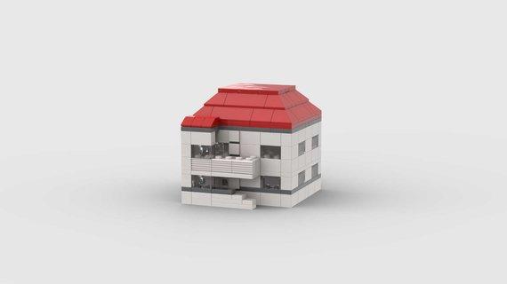 """Asmeninio archyvo nuotr. /Roko Mikšiūno iš """"Lego"""" detalių sukonstruoti modernistiniai pastatai"""