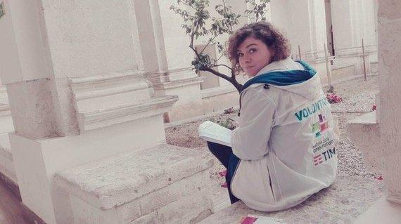 """Pierpaolo Sarra, association """"Volunteers Open Culture 2019"""" nuotr. /Marina Gemma"""