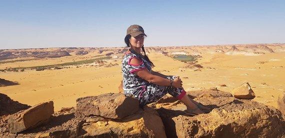 Asmeninio archyvo nuotr. /Marija – vienintelė lietuvė ekspedicijoje po Čadą