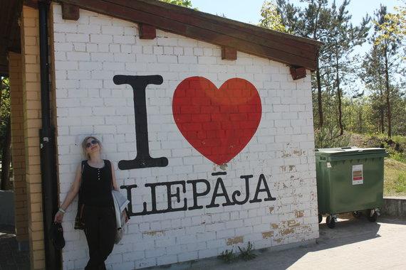 Pėsčiųjų žygis Liepojoje.