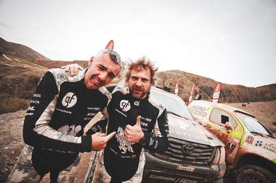 Edgaro Buiko nuotr./Sebastianas Rozwadowskis ir Benediktas Vanagas po finišo 8-ame greičio ruože