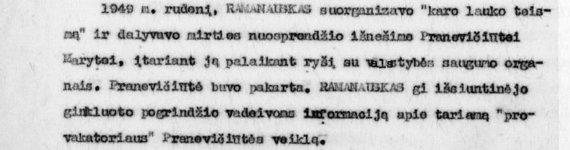 A.Ramanausko-Vanago byla