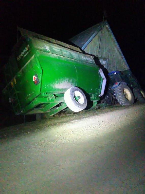 Tauragės apskr. VPK nuotr./Pavogtas traktorius