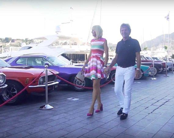 Stop kadras. /Rita Rivera su vyru Arthuru Mostert'u