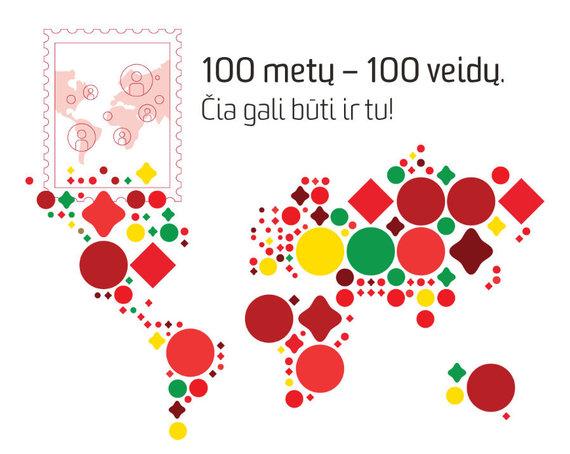 """Konkurso nuotr. /Pašto ženklo """"Pasaulio Lietuva"""" pavyzdys"""