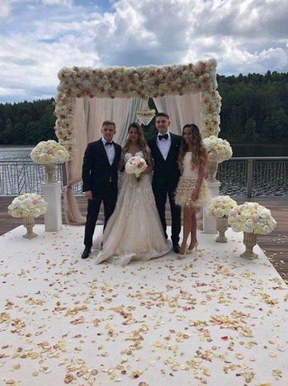 Socialinių tinklų nuotr. /Valerijos Matvejenko ir Fiodoro Černycho vestuvių akimirka