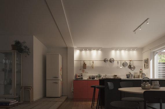 """""""Velux"""" nuotr./Virtuvė prieš, be stoglangių"""