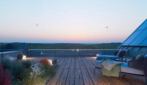 """""""Aeronamai.lt"""" nuotr./ """"Aeronamų"""" vaizdas nuo stogo"""