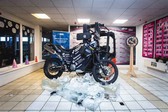 Egidijaus Babelio nuotr./Karolio Mieliausko motociklas