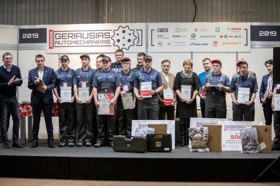 """Organizatorių nuotr./""""Geriausio jaunojo automechaniko"""" konkursas 2019"""