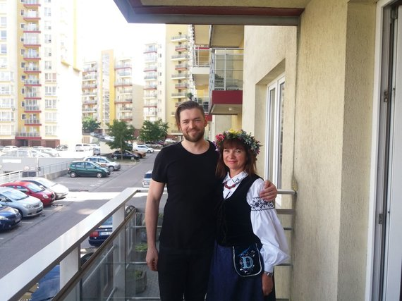 Jurijus Veklenko su mama Svetlana Veklenko
