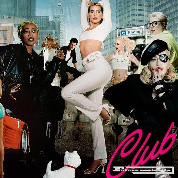 "Warner Music nuotr./Dua Lipa ""Club Future Nostalgia"" albumo viršelis"