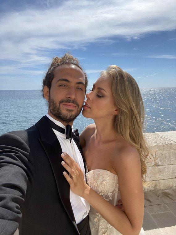 Asmeninio albumo nuotr./Karolinos Valeikaitės ir Marco Coppola vestuvių akimirka