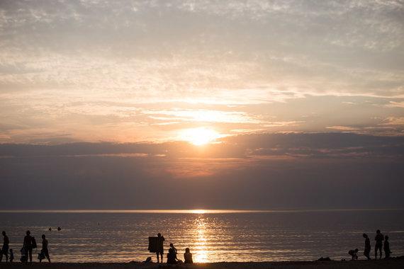Josvydo Elinsko / 15min nuotr./Vakarėjanti Baltijos jūra