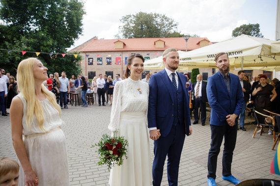 Josvydo Elinsko / 15min nuotr./Pauliaus Ambrazevičiaus ir Kristinos Žalnieriūnaitės vestuvės