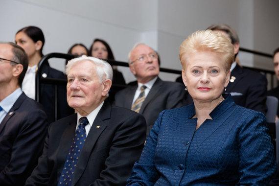 Josvydo Elinsko / 15min nuotr./Valdas Adamkus ir Dalia Grybauskaitė