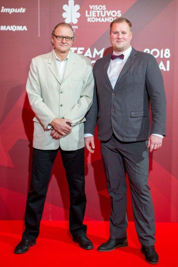 Josvydo Elinsko / 15min nuotr./LTOK geriausių Lietuvos sportininkų apdovanojimai – Vaclovas Kidykas ir Andrius Gudžius.