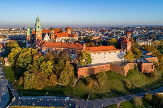 123RF.com nuotr./Vavelio pilis ir Katedra. Krokuva