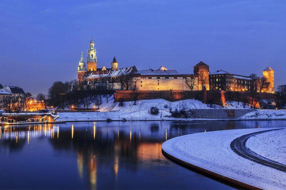 123RF.com nuotr./Vavelis žiemą. Krokuva, Lenkija