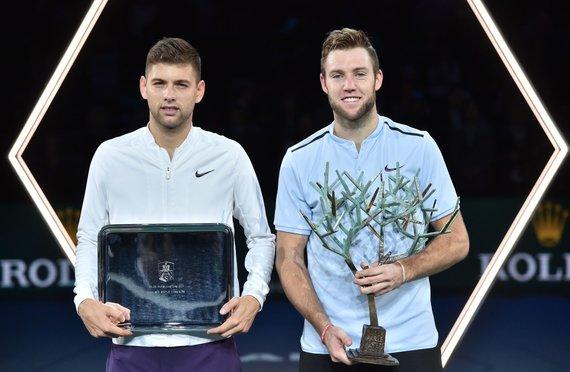 """AFP/""""Scanpix"""" nuotr./F.Krajinovičius """"Masters"""" turnyro Paryžiuje finale pralaimėjo J.Sockui"""