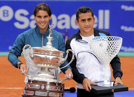 """AFP/""""Scanpix"""" nuotr./Rafaelis Nadalis ir Nicolas Almagro"""