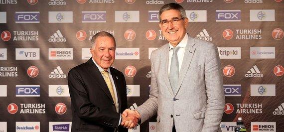 Euroleague.net nuotr./Shimonas Mizrahi ir Jordi Bertomeu