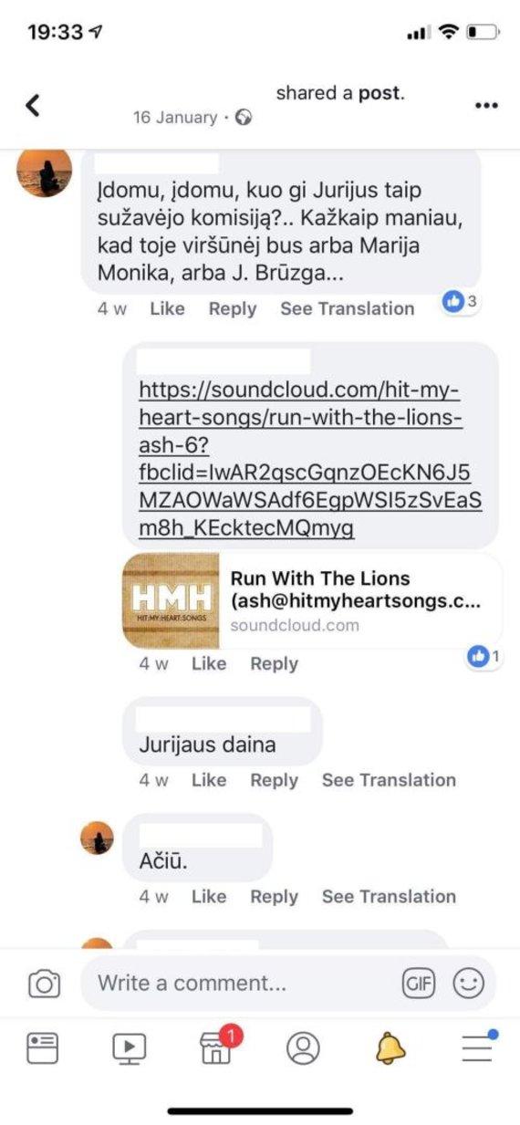 Ekrano nuotr./Viešojoje erdvėje – kaltinimai Jurijaus Veklenko dainai