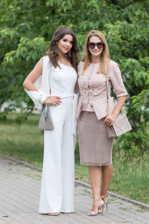 Asmeninio albumo nuotr./Marija Randers su mama Daina Bosas