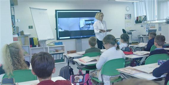 Gedimino miesto mokyklos nuotr./Sinchroninis mokymas Gedimino miesto mokykloje