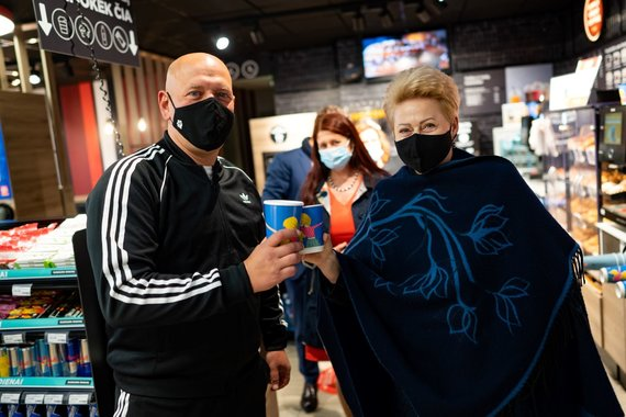 """""""Circle K Lietuva"""" nuotr./G.Liaudanskas-Svaras ir D.Grybauskaitė"""