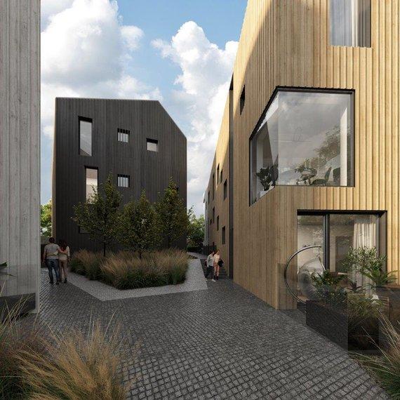 """""""Architektūros linijos"""" vizualas/Naujo komplekso Užupyje projektas"""