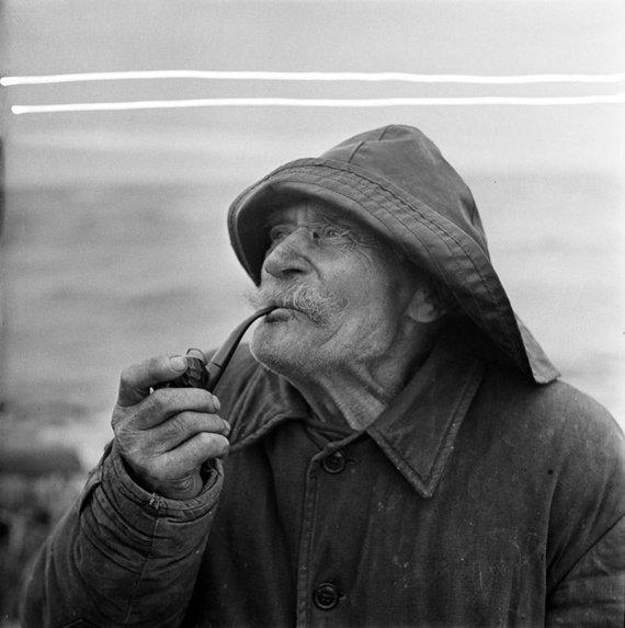 B.Aleknavičiaus nuotr., Lietuvos centrinis valstybės archyvas/Senbuvis nidiškis Mikas Engelynas (1882-1972) – vienas iš nedaugelio senbuvių, atsispyrusių 1958 m. prasidėjusiai senųjų Kuršių nerijos gyventojų išvykimo į Vokietiją bangai, 1967 m. nuotr.