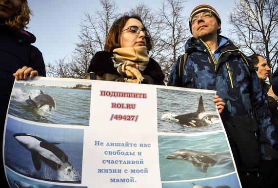 "AFP/""Scanpix"" nuotr./Aktyvistai Maskvoje."