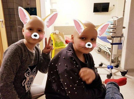 Mamų unijos nuotr./Onkologinėmis ligomis sergantys vaikai