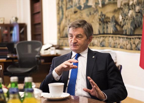 Kancelaria Sejmu/Marta Marchlewska nuotr./Lenkijos Seimo maršalka Marekas Kuchcińskis